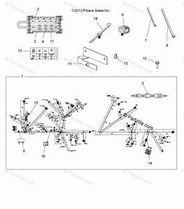 Polaris Atv 2014 Oem Parts Diagram For Electrical  Harness