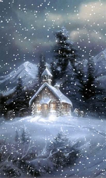 Winter Screensavers Screensaver Night Wallpapers Nature Season