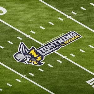 Football Field Photoshop Logo Mockup  U2013 Sports Templates