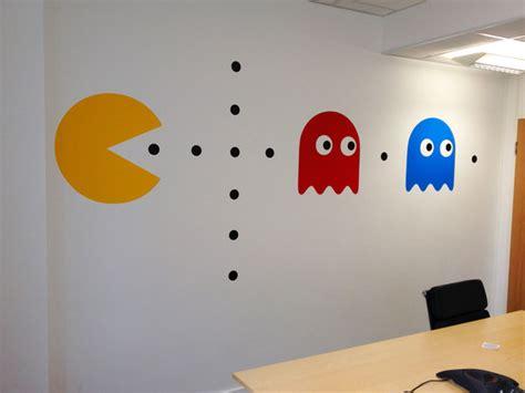 stickers pour bureau autocollant mural rétro pac kollori com