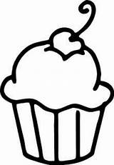 Cupcake Etsy Outline Cake Pages Colouring Drawings Coloring Cup Drawing Window Adult Designs Decal sketch template