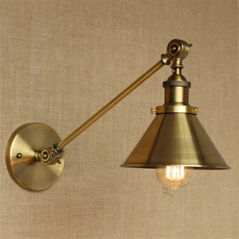 vintage industrial adjustable arm light wall sconce retro