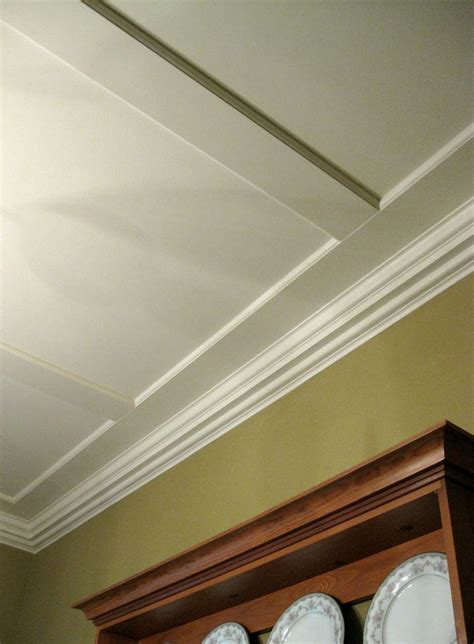 Simple Coffered Ceiling by Easy Flat Coffered Ceiling Search Finishing