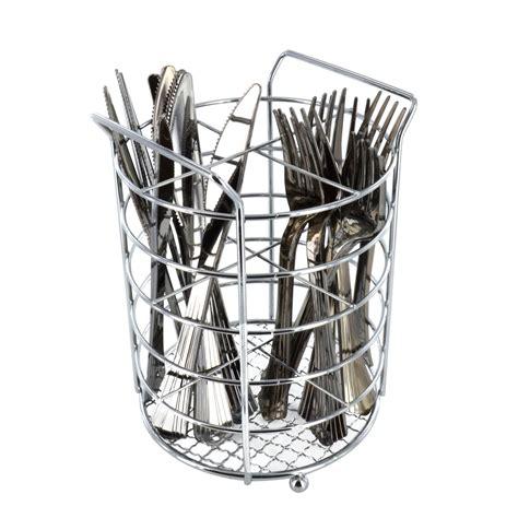 sink baskets and drainers chrome cutlery basket kitchen untensil drainer storage