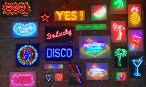 brilliant neon storefront notonthehighstreetcom