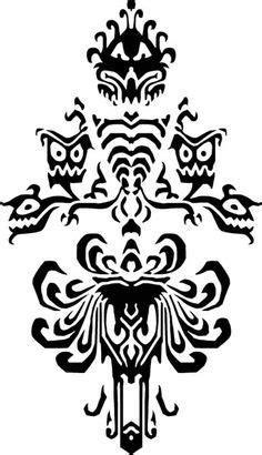 Disney's haunted mansion / phantom manor hallway wallpaper b/w by. Haunted mansion hidden Mickey | Cricut | Disney ...