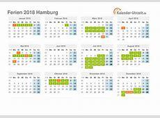 Ferien Hamburg 2018 Ferienkalender zum Ausdrucken