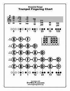 Trumpet Fingering Chart And Flashcards