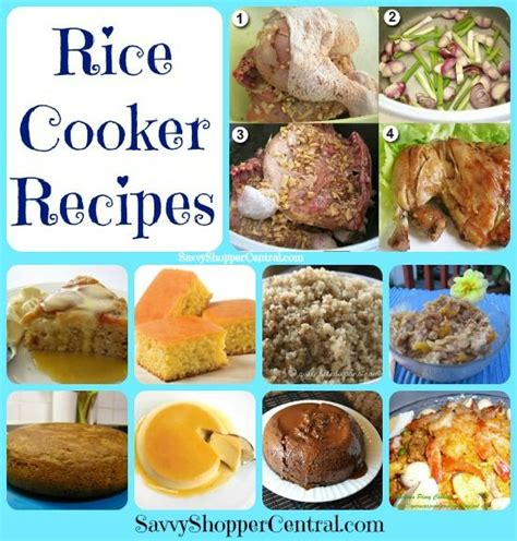 rice cooker recipes rice cooker recipes