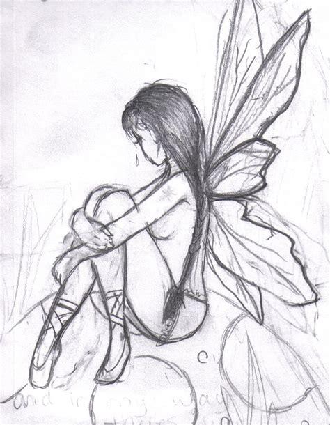 Angel And Demons Wallpaper Pencil Easy Drawings Of Fairy Dark Fairy Drawings Easy Helloween Pinterest Wings Fairy