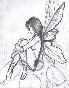 Pencil Easy Drawings Of Fairy Dark Fairy Drawings Easy ...