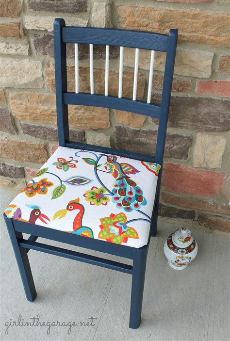 kitchen chair makeover colorful bird chair makeover in the garage 174 3344