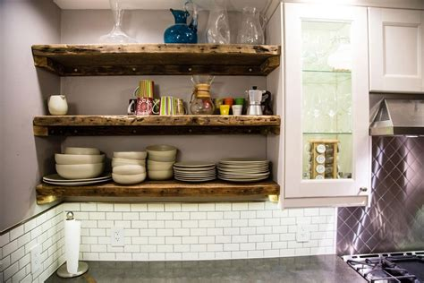 Open Reclaimed Wood Shelving In Our Kitchen, Made From Old