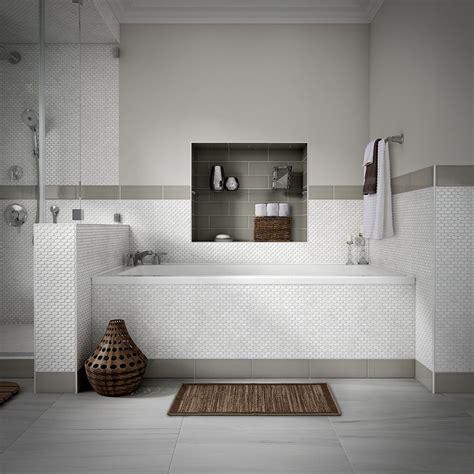 shop style selections chique gris porcelain floor tile