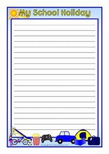 Weekend & Holiday News Writing Frames and Page Borders KS1