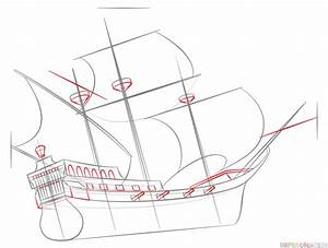 How to draw a pirate ship step by step. Drawing tutorials ...