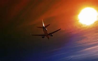 Plane Night Sky Airplane Flight Aircraft Taking