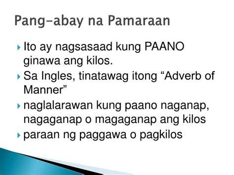 Ppt  Pang Abay Na Pamaraan Powerpoint Presentation Id