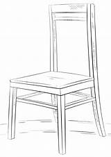 Chair Coloring Pages Print sketch template