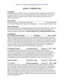 production planning resume exle sle planner resume