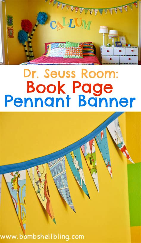 Going To Nursery Book dr seuss book page pennant banner