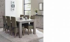 Table Chene Gris : table contemporaine coloris ch ne gris salsa ~ Teatrodelosmanantiales.com Idées de Décoration