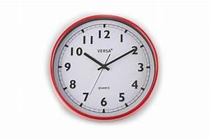 Horloge Murale Rouge : horloge murale rouge horloge design pas cher ~ Teatrodelosmanantiales.com Idées de Décoration