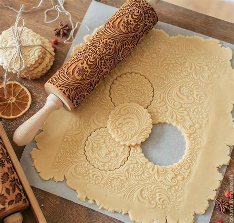 cm christmas embossing rolling pin baking cookies