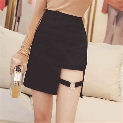 Harajuku Skirt Korean Line Asymmetric