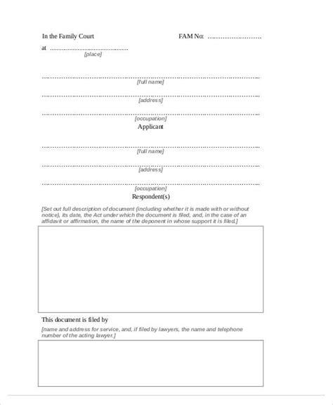 general affidavit template 32 free affidavit forms sle templates