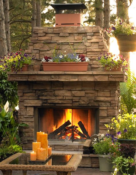 Stacked Stone Fireplace  Inspiration Dream Home Pinterest