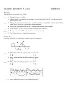 Chapter 5 Electrons In Atoms Answers To Worksheet