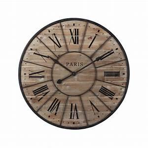 Maison Du Monde Horloge Murale : ides de horloge murale gante chiffres romains 80 cm kotecazfr galerie dimages ~ Teatrodelosmanantiales.com Idées de Décoration