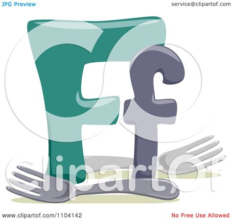 lowercase f clipart clipart capital and lowercase letter f with forks