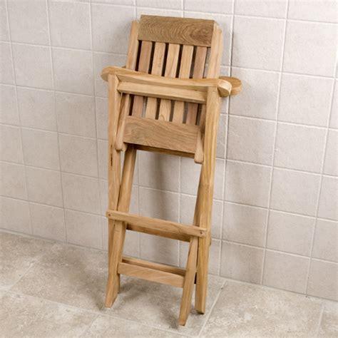 solid teak corner folding shower seat