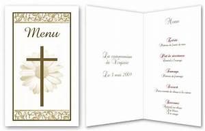 Modele De Menu A Imprimer Gratuit : menu de f te gratuit imprimer croix fleurie a ~ Melissatoandfro.com Idées de Décoration