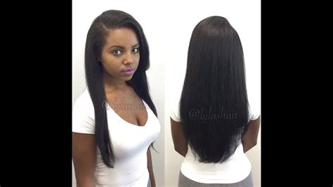 How To Microlink Sew-in Hair Extensions/weave Using Lylas