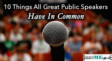 10 Things All Great Public Speakers Have In