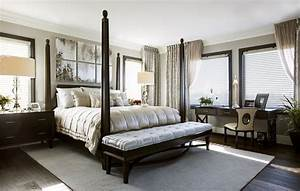 Hamptons Inspired Luxury Home Master Bedroom Robeson Design