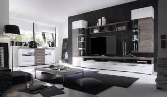 ebay wohnzimmer wohnwand mit sideboard weiss hochglanz sonoma eiche trueffel woody 19 00387 ebay