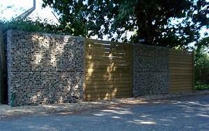 Mur De Cloture En Gabion : mur de cl ture en gabion gabion conception ~ Edinachiropracticcenter.com Idées de Décoration