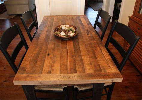 farm table clear finish butcher block top  skirting