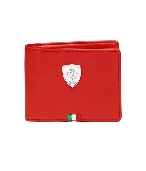 puma mens red ferrari wallet buy    price