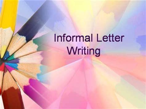 informal letter writing authorstream