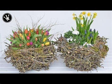 deko frühling selber machen diy fr 252 hlingsdeko osterdeko selber machen i nest aus zweigen i deko mit fr 252 hlingsblumen