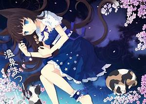 Image - Konachan.com - 135131 animal blue eyes brown hair ...