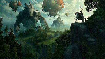 Fantasy Giant Knight Backgrounds Wallpapers Mobile