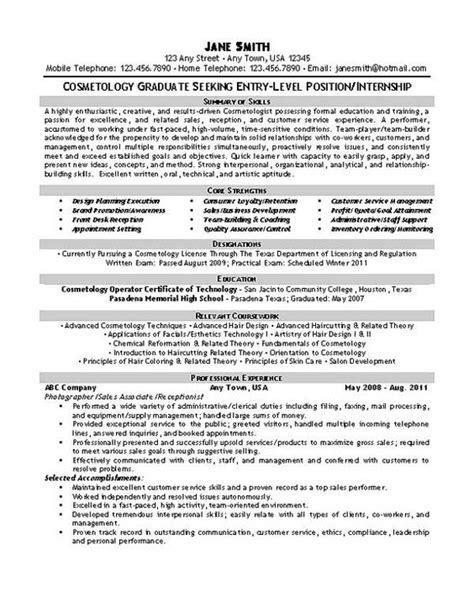 self employed hair stylist resume sle resume templates resume and resume exles on