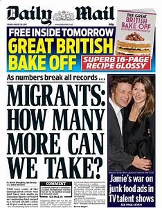 Friday's daily mail front page: migrants: how many more ...