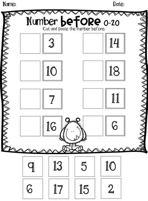 numbers      worksheet pack